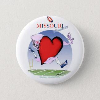 Chapa Redonda De 5 Cm corazón principal de Missouri, fernandes tony