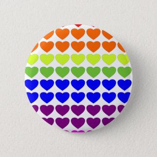 Chapa Redonda De 5 Cm Corazones del arco iris