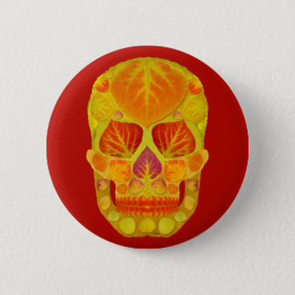 Chapa Redonda De 5 Cm Cráneo 13 de la hoja de Aspen