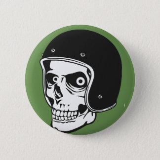 Chapa Redonda De 5 Cm Cráneo con el casco