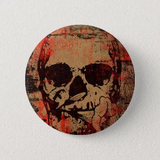 Chapa Redonda De 5 Cm Cráneo con la flor