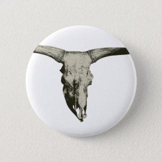 Chapa Redonda De 5 Cm Cráneo del bisonte