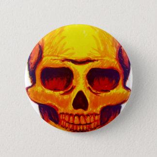 Chapa Redonda De 5 Cm Cráneo del bosquejo