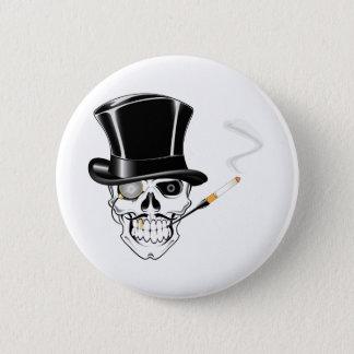 Chapa Redonda De 5 Cm Cráneo del caballero