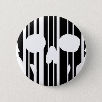 Chapa Redonda De 5 Cm Cráneo del código de barras