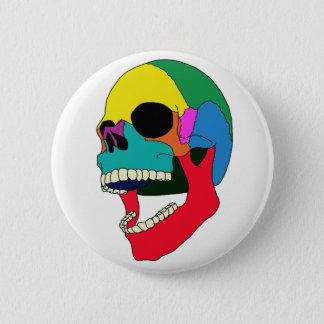Chapa Redonda De 5 Cm Cráneo del estallido del color