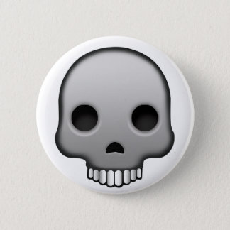 Chapa Redonda De 5 Cm Cráneo Emoji