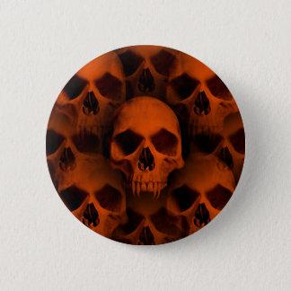 Chapa Redonda De 5 Cm Cráneos del horror de Halloween