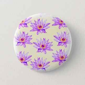 Chapa Redonda De 5 Cm crema de las flores de loto manchada de tinta