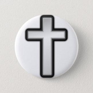 Chapa Redonda De 5 Cm Cruz católica