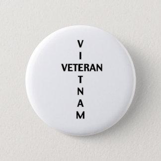 Chapa Redonda De 5 Cm Cruz del veterano de Vietnam (botón)