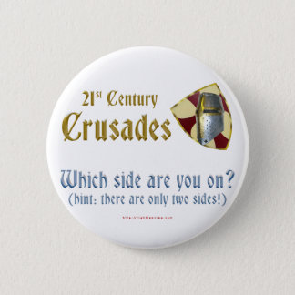Chapa Redonda De 5 Cm Cruzadas del siglo XXI