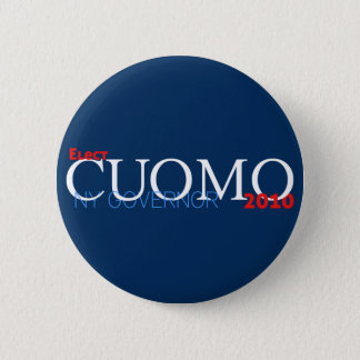 Chapa Redonda De 5 Cm Cuomo para el gobernador