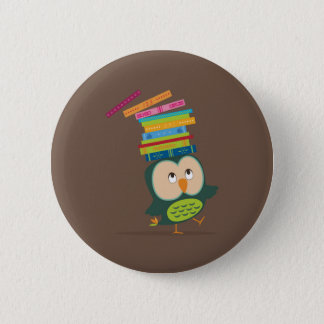 Chapa Redonda De 5 Cm Cute little book owl