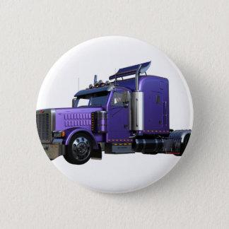 Chapa Redonda De 5 Cm De la púrpura camión metálico del tractor remolque