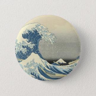 Chapa Redonda De 5 Cm Debajo de la onda de Kamagawa