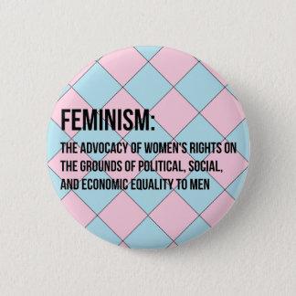 Chapa Redonda De 5 Cm Definición del feminismo