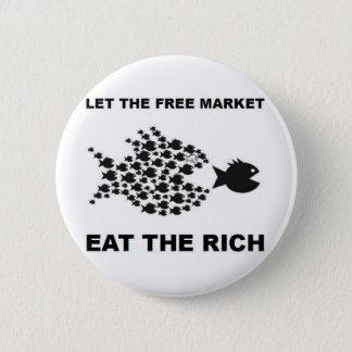 Chapa Redonda De 5 Cm Deje el mercado libre comer a los ricos
