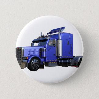 Chapa Redonda De 5 Cm Del azul camión metálico del tractor remolque semi