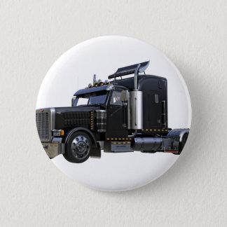 Chapa Redonda De 5 Cm Del negro camión del tractor remolque semi