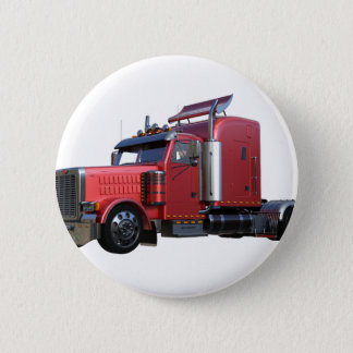 Chapa Redonda De 5 Cm Del rojo camión metálico de Traler del tractor