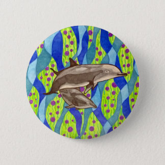 Chapa Redonda De 5 Cm delfín