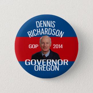 Chapa Redonda De 5 Cm Dennis Richardson para el perno del gobernador