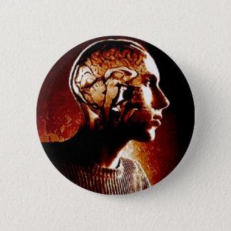 Chapa Redonda De 5 Cm Dentro de mi cabeza, mostrando actividad cerebral