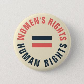 Chapa Redonda De 5 Cm Derechos humanos iguales de las derechas de las