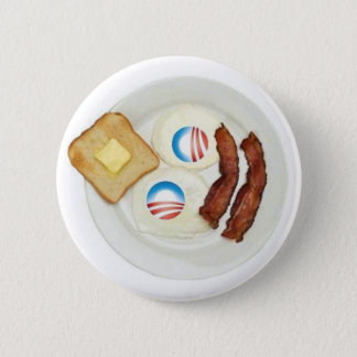 Chapa Redonda De 5 Cm Desayuno de Favorable-Obama 2012