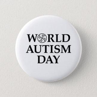 Chapa Redonda De 5 Cm Día del autismo del mundo
