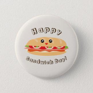 Chapa Redonda De 5 Cm Día nacional feliz del bocadillo lindo y Kawaii