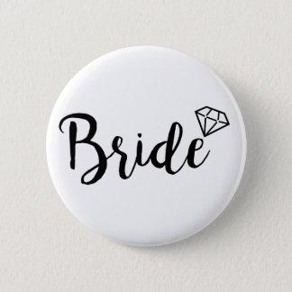 Chapa Redonda De 5 Cm Diamante de Bling de la novia
