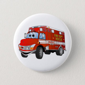 Chapa Redonda De 5 Cm Dibujo animado del rescate del fuego
