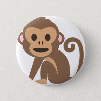Chapa Redonda De 5 Cm Dibujo animado feliz del mono