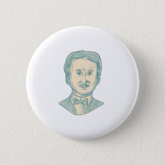 Chapa Redonda De 5 Cm Dibujo del escritor de Edgar Allan Poe