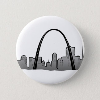 Chapa Redonda De 5 Cm Dibujo del horizonte de St. Louis