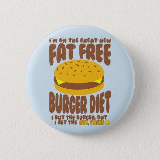 Chapa Redonda De 5 Cm Dieta sin grasa de la hamburguesa