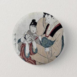 Chapa Redonda De 5 Cm Diez nombres eróticos por Kitagawa, Utamaro Ukiyoe