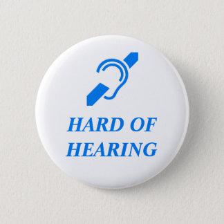 Chapa Redonda De 5 Cm Difícilmente del azul de la audición en el fondo
