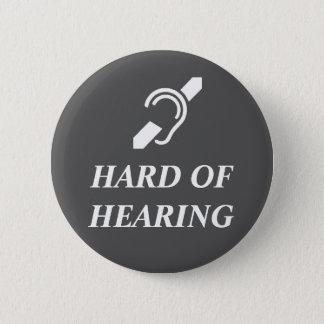 Chapa Redonda De 5 Cm Difícilmente del blanco de la audición en gris