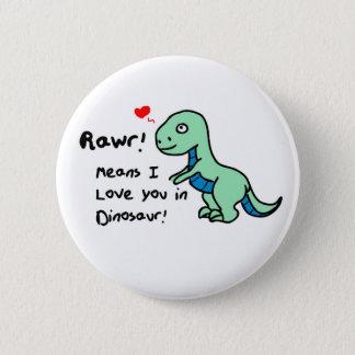 Chapa Redonda De 5 Cm Dinosaurio