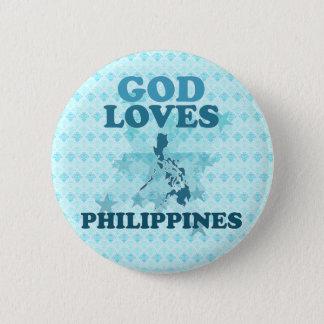 Chapa Redonda De 5 Cm Dios ama Filipinas