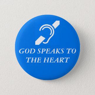 Chapa Redonda De 5 Cm Dios habla al corazón
