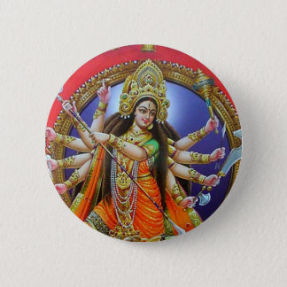 Chapa Redonda De 5 Cm Diosa Durga