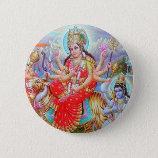 Chapa Redonda De 5 Cm Diosa Durga Ji