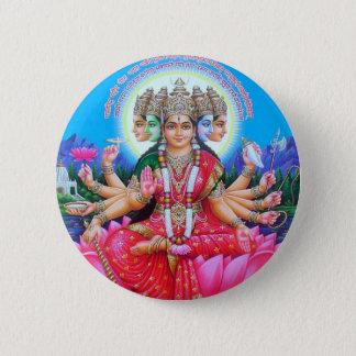 Chapa Redonda De 5 Cm Diosa Gayatri Devi