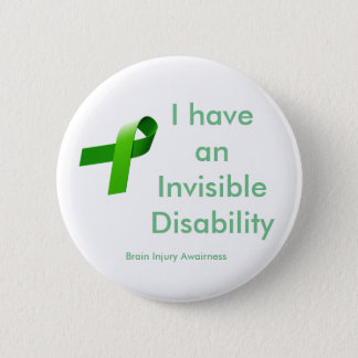 Chapa Redonda De 5 Cm Disablility invisible