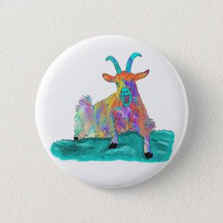 Chapa Redonda De 5 Cm Diseño animal de griterío divertido de la pintura