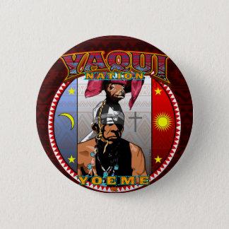 Chapa Redonda De 5 Cm Diseño del bailarín de los ciervos de Yaqui Yoeme